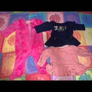 2 juicy couture outfits & 1 sweater